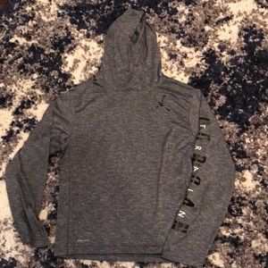 Boys Nike Dri-Fit hooded long sleeve shirt
